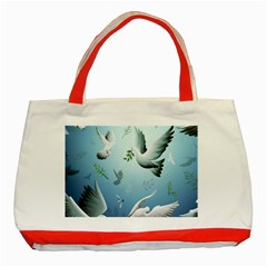 Animated Nature Wallpaper Animated Bird Classic Tote Bag (red)