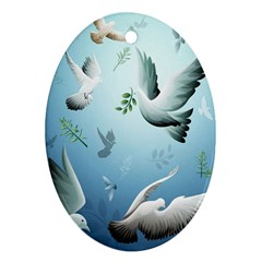 Animated Nature Wallpaper Animated Bird Oval Ornament (two Sides)