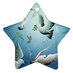 Animated Nature Wallpaper Animated Bird Star Ornament (two Sides)