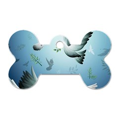 Animated Nature Wallpaper Animated Bird Dog Tag Bone (one Side)