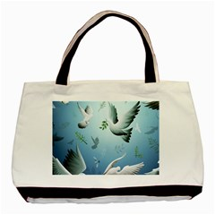Animated Nature Wallpaper Animated Bird Basic Tote Bag (two Sides)
