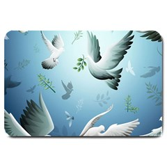 Animated Nature Wallpaper Animated Bird Large Doormat