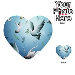 Animated Nature Wallpaper Animated Bird Multi-purpose Cards (Heart)