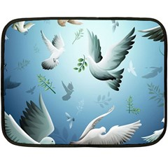 Animated Nature Wallpaper Animated Bird Double Sided Fleece Blanket (mini)