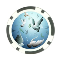 Animated Nature Wallpaper Animated Bird Poker Chip Card Guards (10 Pack)