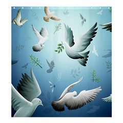 Animated Nature Wallpaper Animated Bird Shower Curtain 66  X 72  (large)
