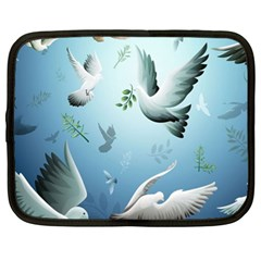 Animated Nature Wallpaper Animated Bird Netbook Case (xl)