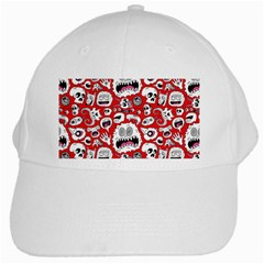 Another Monster Pattern White Cap