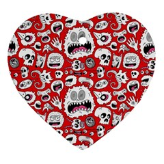 Another Monster Pattern Ornament (heart)