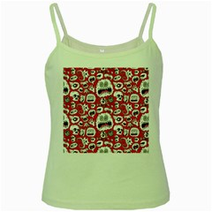 Another Monster Pattern Green Spaghetti Tank