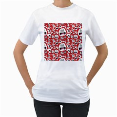Another Monster Pattern Women s T Shirt (white) (two Sided)