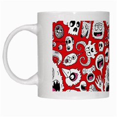 Another Monster Pattern White Mugs
