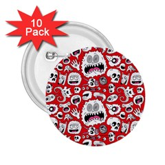 Another Monster Pattern 2 25  Buttons (10 Pack)