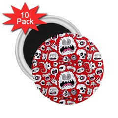 Another Monster Pattern 2 25  Magnets (10 Pack)