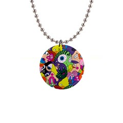 Another Weird Pattern Button Necklaces