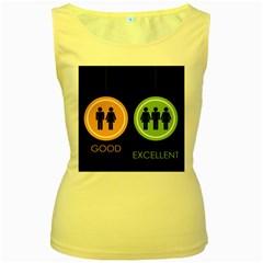 Bad Good Excellen Women s Yellow Tank Top