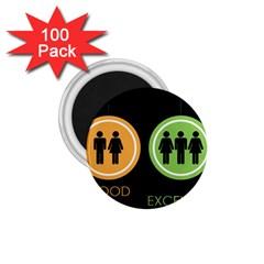 Bad Good Excellen 1 75  Magnets (100 Pack)