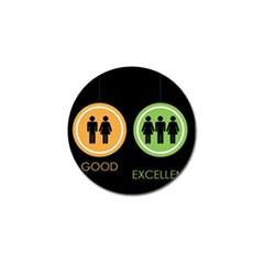Bad Good Excellen Golf Ball Marker
