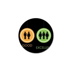 Bad Good Excellen Golf Ball Marker (10 Pack)