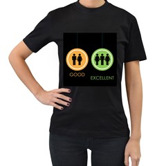 Bad Good Excellen Women s T Shirt (black) (two Sided)