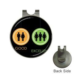 Bad Good Excellen Hat Clips With Golf Markers