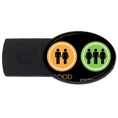 Bad Good Excellen Usb Flash Drive Oval (4 Gb)