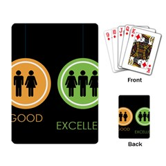 Bad Good Excellen Playing Card