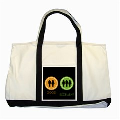 Bad Good Excellen Two Tone Tote Bag
