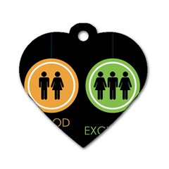 Bad Good Excellen Dog Tag Heart (two Sides)