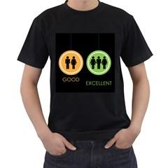 Bad Good Excellen Men s T Shirt (black)
