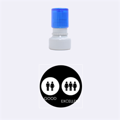 Bad Good Excellen Rubber Round Stamps (small)