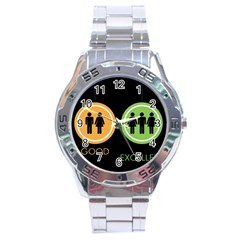 Bad Good Excellen Stainless Steel Analogue Watch