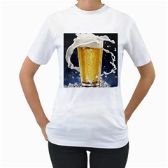 Beer 1 Women s T Shirt (white) (two Sided)