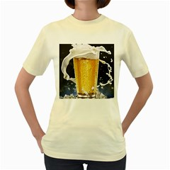 Beer 1 Women s Yellow T Shirt