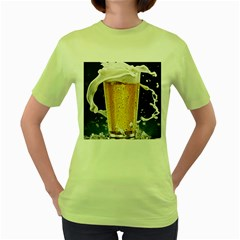 Beer 1 Women s Green T Shirt