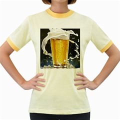 Beer 1 Women s Fitted Ringer T Shirts