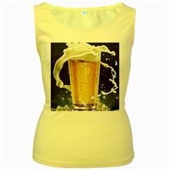 Beer 1 Women s Yellow Tank Top