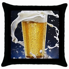Beer 1 Throw Pillow Case (black)