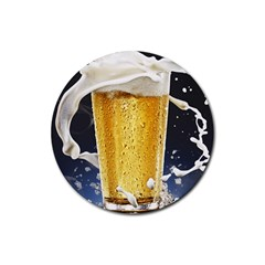 Beer 1 Rubber Round Coaster (4 Pack)
