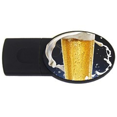 Beer 1 Usb Flash Drive Oval (4 Gb)