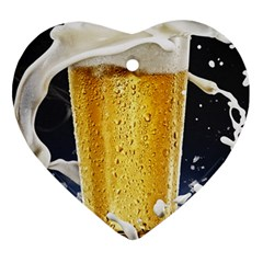 Beer 1 Heart Ornament (2 Sides)