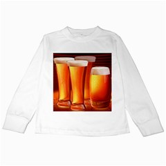 Beer Wallpaper Wide Kids Long Sleeve T Shirts