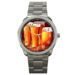 Beer Wallpaper Wide Sport Metal Watch