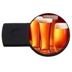 Beer Wallpaper Wide Usb Flash Drive Round (4 Gb)