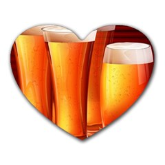 Beer Wallpaper Wide Heart Mousepads