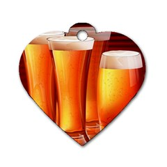Beer Wallpaper Wide Dog Tag Heart (two Sides)