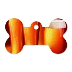 Beer Wallpaper Wide Dog Tag Bone (two Sides)