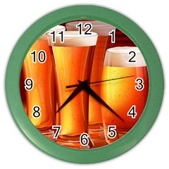 Beer Wallpaper Wide Color Wall Clocks