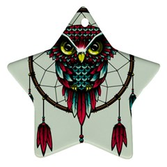 Bird Star Ornament (two Sides)