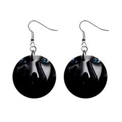 Black And White Mini Button Earrings